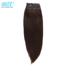 Human-Hair-Extensions Machine-Made Clip-In BHF 90g Straight 3pieces 30g Remy 100-%