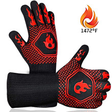 BBQ Gloves High Temperature Heat Resistant Fireproof Microwave Kitchen Glove Oven Mitts
