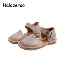 Spring New Baby Girls Genuine Leather Shoes Kids Princess Fl