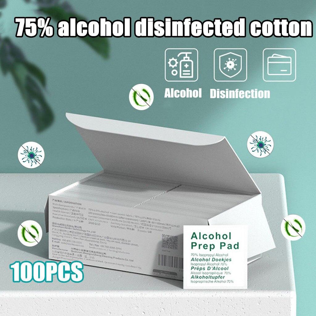 75% Alcohol Sterilized Cotton Tablets 100 Pieces Of Sterile Alcohol 6x6 CM 15ML(China)