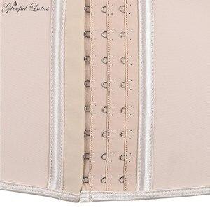 Image 5 - اللاتكس مدرب خصر بذلة مفصلة لشكل الجسم حزام تخسيس النمذجة حزام التخسيس غمد المرأة حجم كبير مشد للخصر الكولومبي المشدات