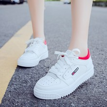 Hot Sale Spring Women Vulcanize Shoes Sneakers Shoes Ladies Lace Up Sweet Breathable Casual Loafers Plus Size Chaussure D0054