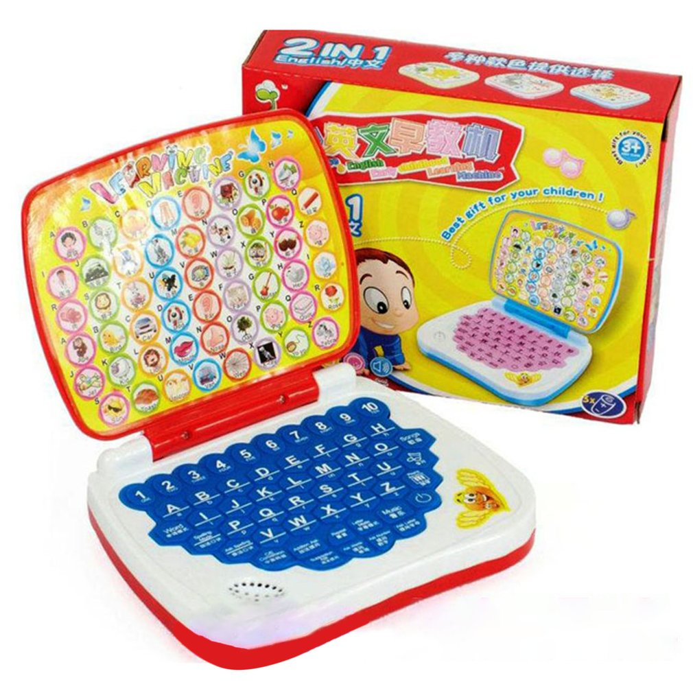 Multifunctional Bilingual Learning Machine For Kids Baby Early Educational Toy Computer Laptop Children Gift Developmental Toy