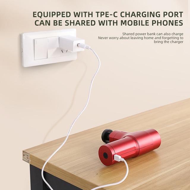 Фото портативный зарядный электрический массажный инструмент мини цена