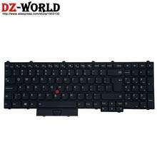 Novo original eua inglês grande enter backlit teclado para lenovo thinkpad p70 p50 p71 p51 portátil backlight teclado