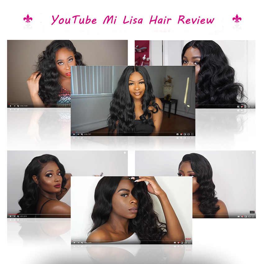13x6 peluca Frontal de encaje malasio onda del cuerpo Peluca de pelo humano frente de encaje para mujeres 360 peluca Frontal de encaje Pre desplumado con pelo de bebé