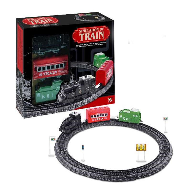 Children Model Electric Camera Track Classical Toy Sets Classical Small Train Vintage Steam Train Toy Gift