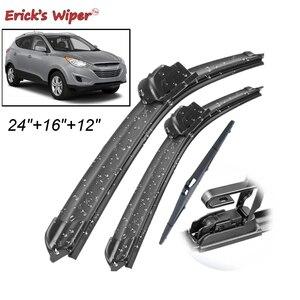 """Erick's Wiper Front Rear Wiper Blades Set Kit For Hyundai Tucson MK2 ix35 2010-2015 Windshield Windscreen Rear Window 24""""16""""12""""(China)"""