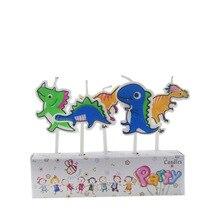 5 шт./партия реквизит Динозавр для вечеринки Дети День рождения свечи Вечеринка украшения набор день рождения Свадебный Праздничный торт набор свечей