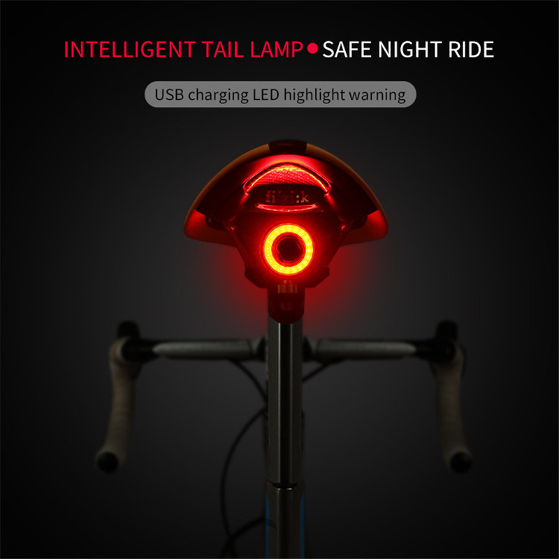 XLITE100 Bicycle LED Tail Taillight Bike Lights Auto Start/Stop Brake Sensing IPX6 Waterproof Of LED Charging Cycling Taillight