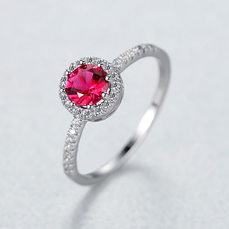 Hd9afe217f3f34789a8d843135afc956fo Jellystory 925 Sterling Silver Ring Creative Ruby Rings for Female Wedding Party Round Red Gemstone Ring Jewellery Gift size 6-9