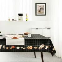 Northern Europe tablecloth black white dining table covers thick dressing table cloth home kitchen banquet party decoration