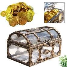 Transparent Jewelry Storage Box Treasure Chest Beautiful Metal