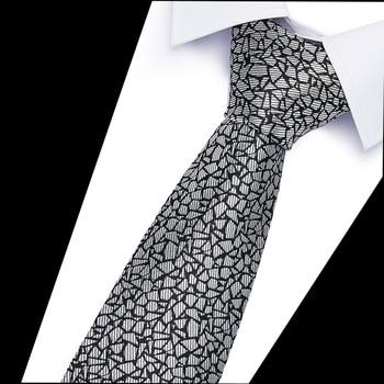 100% Silk Jacquard Woven Ties New Slim Luxury Tie  Men 6cm Skinny  Neckties Man's Neck Tie For Wedding Business Man Gifts new 7 5cm 100% jacquard woven silk tie for men plaid neckties man s neck tie for wedding business party factory sale