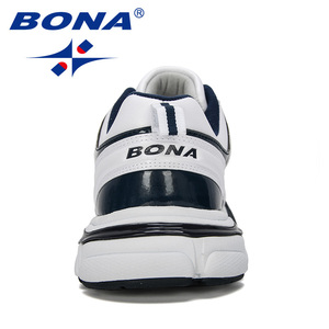 Image 2 - BONA 2019 New Designers Leather Running Shoes Men Outdoor Sneaker Shoes Casual Breathable Shoes Jogging Tennis Shoes Man Trendy