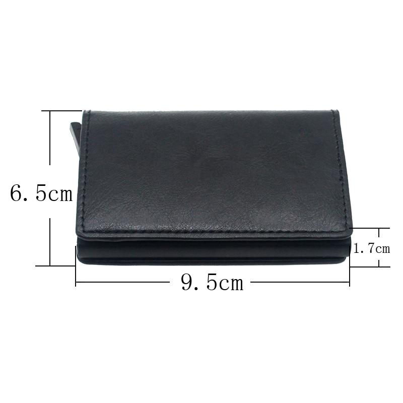 Cool Black Pentagram Army Design Card Holder Wallets Men Women Rfid Leather Short Purse Slim Mini Wallet Small Money Bag