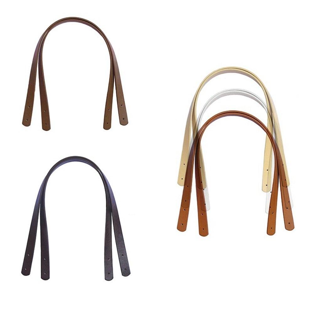 2 Pcs Bag Belt Detachable PU Leather Handle Lady Shoulder Bag DIY Replacement Accessories Handbag Band Handle Strap Band