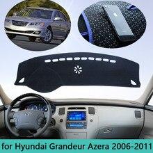 Приборная панель автомобиля Избегайте светильник крышка приборной панели коврик для Hyundai Grandeur Azera 2006 ~ 2011 Авто противоскользящая Защита от с...