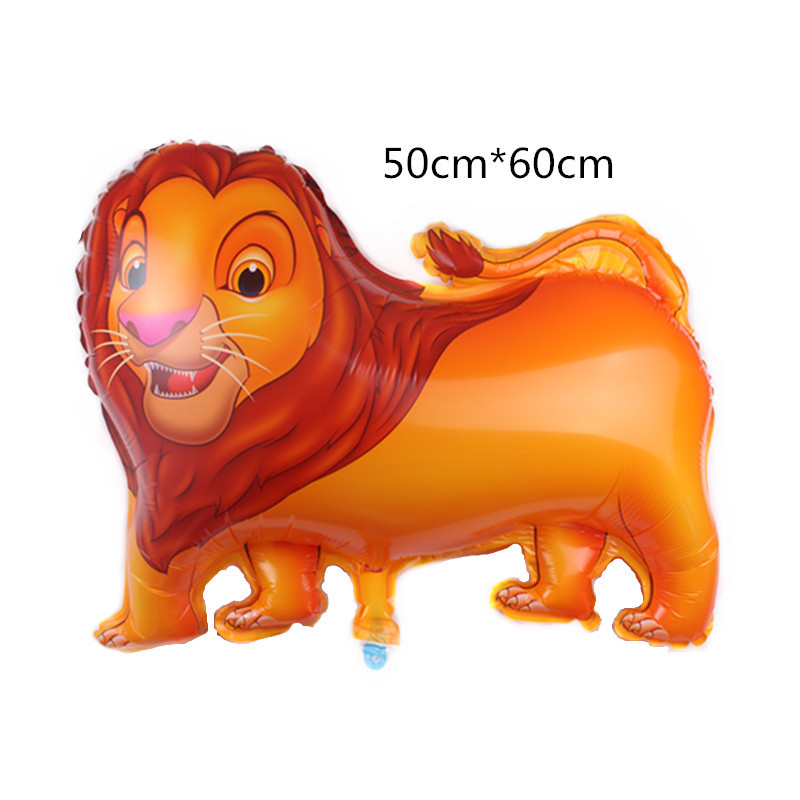 1pcs/ Lion King Simba Hero Flower Butterfly Animal Foil Balloon  Party Decoration Supplies  Toy Cartoon Hat
