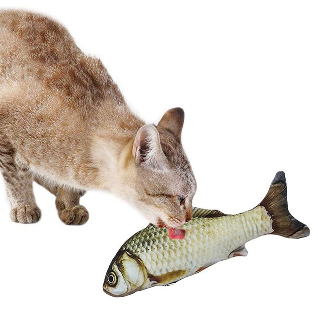 Pet Soft Plush 3D Fish Shape Cat Toy Interactive Gifts Fish Catnip Toys Stuffed Pillow Doll Simulation Fish Playing Toy For Pet 5