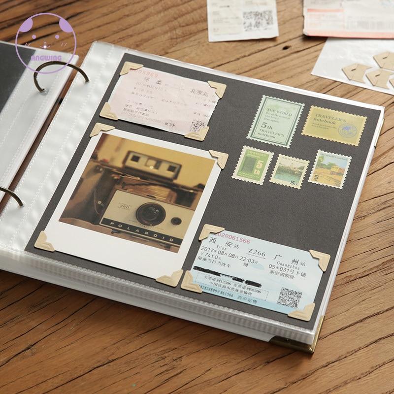 Álbum de foto de boda ANGWING de 10 pulgadas Scarpbook, álbumes de cartón, álbum de fotos para bebé, álbum de recortes, cubierta en blanco, álbumes de viaje para fotos