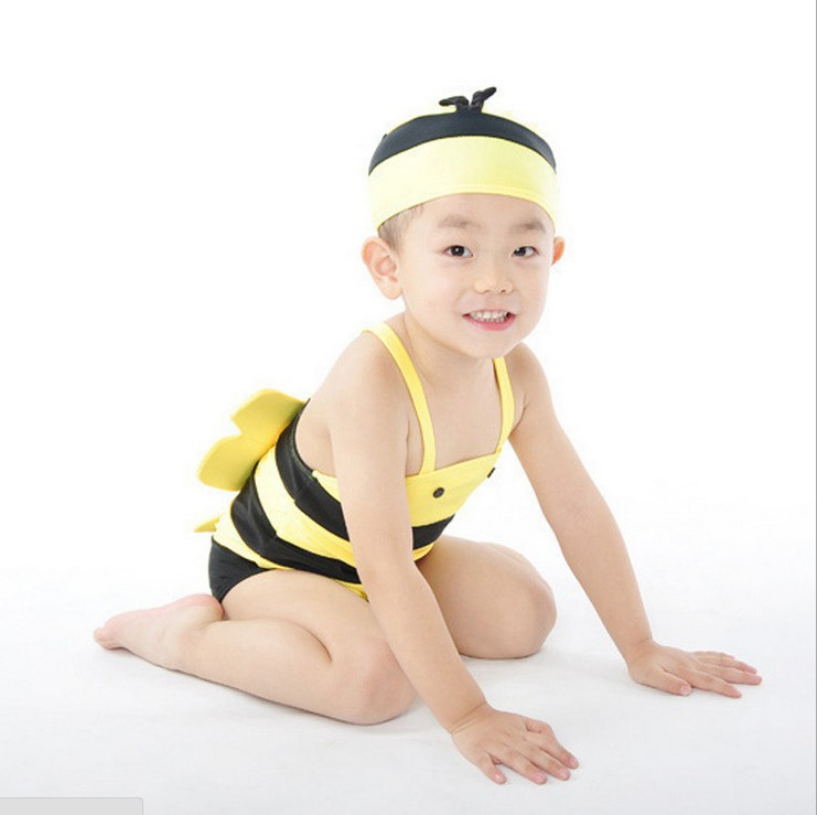 Small Bee One-piece CHILDREN'S Swimsuit BOY'S GIRL'S Swimsuit Swimwear Children Bathing Suit