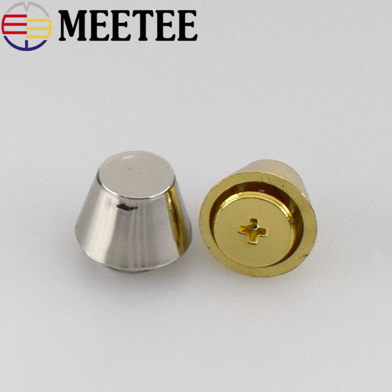 10 20pcs Oval Head Rivet Screw For Bags Handbag Decorative Studs Nail Rivet Metal Buckles Snap Hook Hardware Leather Craft in Buttons from Home Garden