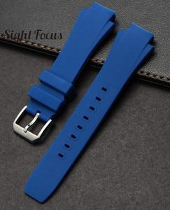 Image 5 - Correa de reloj para IWC Aquatimer de 26x16mm, repuesto de correa, pulsera IW354807 para hombre, correa de goma de silicona negra, hebilla Pin, Masculino