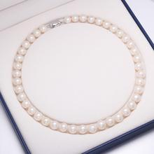 Fashion Real Freshwater Pearl Necklace for Women, Natural Pearl Long Necklace Jewelry As Gift,Wedding Charm Accessories Necklace 100% genuine fashion pearl necklace natural freshwater pearl long necklace charm accessories statement necklace for women gift