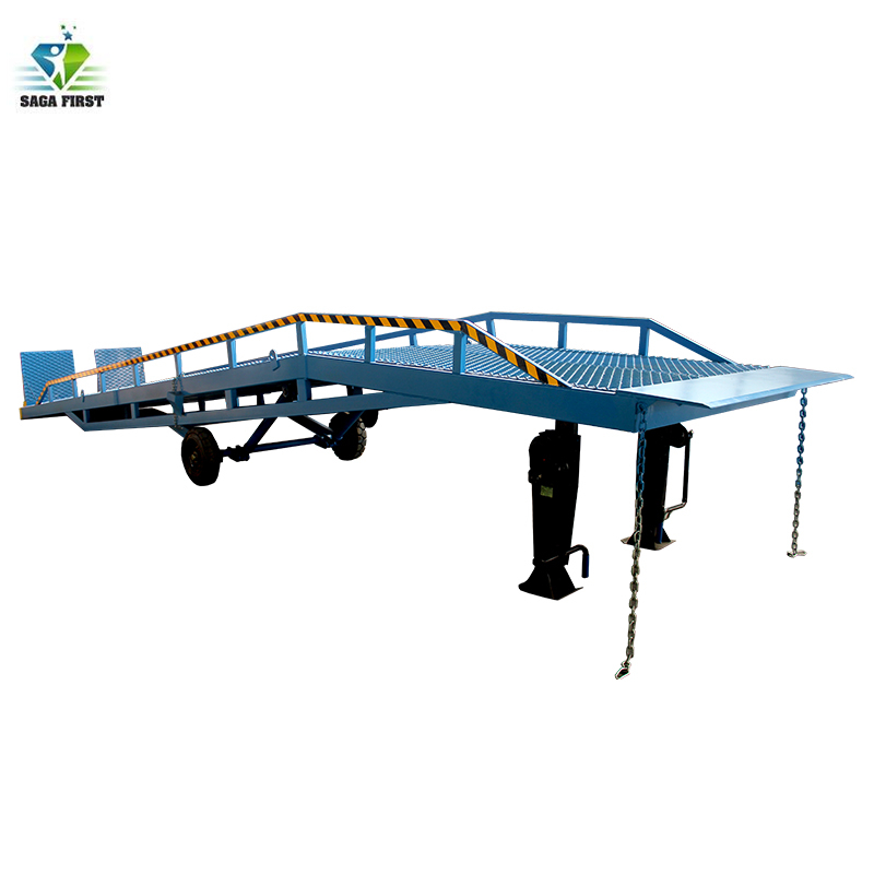 10 Ton Loading Mobile Hydraulic Container Dock Ramps For Forklift