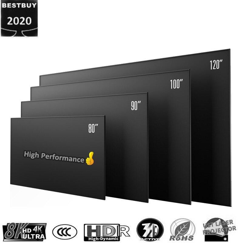 100 120 169 Усть CLR / ALR узкая рамка проекционный экран с ПЭТ черный кристалл для лазерного проектора wemax a300