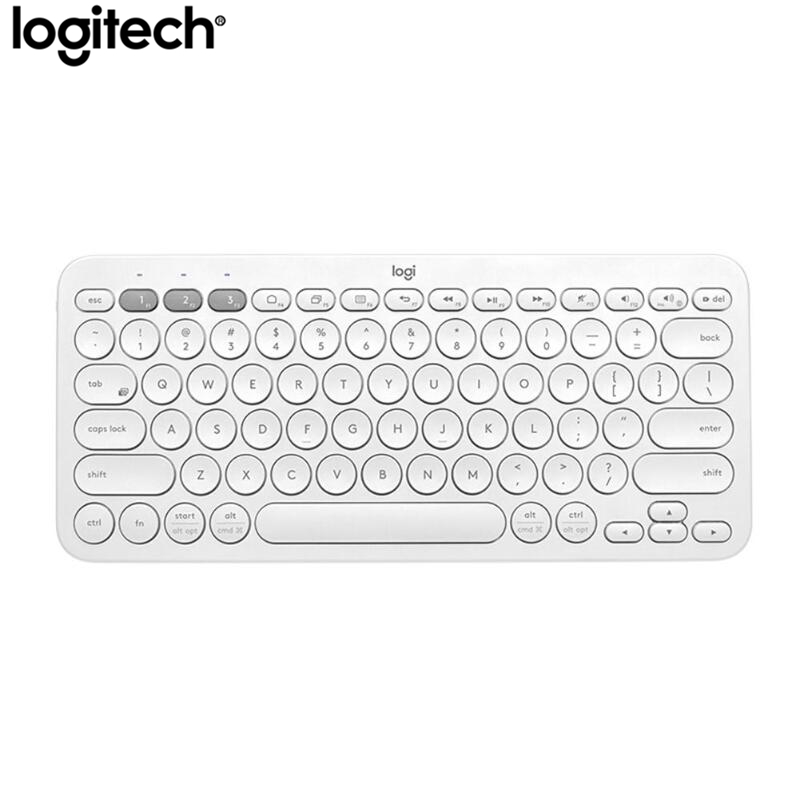 Logitech K380 Bluetooth Wireless Keyboard Portable Ultra Thin Mini Mute Multi-Device Keyboards For PC Laptop Tablet Android IOS image