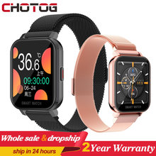 1,54 volle Touch Smart Uhr Männer Frauen Körper Temperatur Smartwatch Herz Rate Monitor Musik Control Sport Uhren Für Android IOS