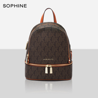 Classic fashion brand style backpack women bags high quality PVC cowhide leather Monogram designer female backpacks
