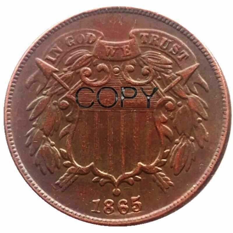 Hai Cent 1865-1873 Ngày Lựa Chọn Đồng Bản Sao Đồng Tiền