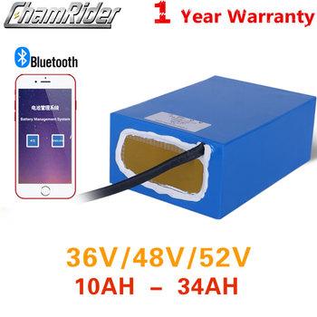 48V 20AH bateria 36V Ebike bateria 1500W bateria do rowerów elektrycznych 52V bateria do roweru 30AH 25A 35A 45A BMS APP potężny dostosowane tanie i dobre opinie chamrider 10-20ah 48 v Lithium Battery 21 - 30Ah 30 - 40Ah 30A-40A