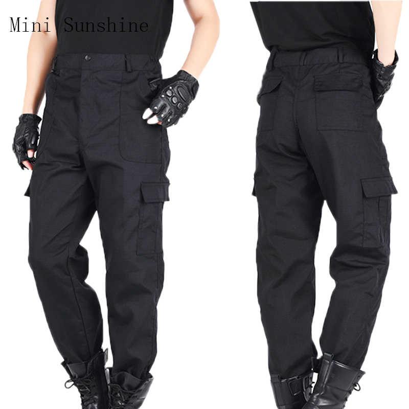 Pantalones Cargo Para Hombre Forro Polar Negro De Otono Pantalones Impermeables Para Hombre Pantalones De Trabajo Informales Elasticos Pantalones Z3 Pantalones Tipo Cargo Aliexpress
