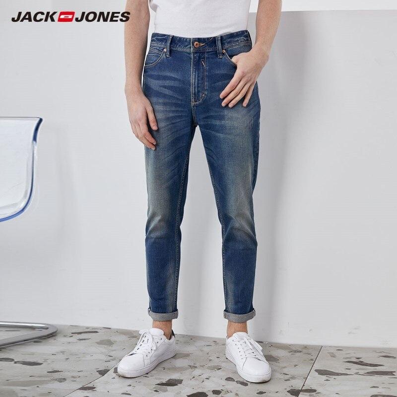 JackJones Men's Slim Fit Stretch Cotton Crop Style Jeans| 220132566
