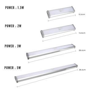 Ночник с пассивным инфракрасным датчиком движения, портативный беспроводной светильник для шкафа, зарядка через USB, 2 Вт, 3 Вт, 5 Вт, для кухни, кладовой, буфета, лестницы, коридора, 5 в постоянного тока