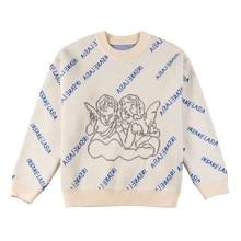 Baixo camisola de malha para o outono e inverno novo retro exterior usar em torno do pescoço camisola feminina vento solto all-match base camisola de malha