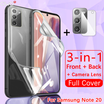 Full Cover For Samsung Galaxy S20 fe S21 Note 10 20 Plus Ultra Screen Protector Hydrogel Film A51 A50 A71 M31 Camera Lens Glass 1
