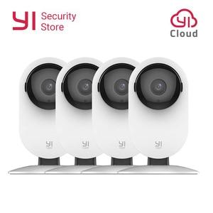 YI maison caméra 1080P 4 pièces système de Surveillance de sécurité Vision nocturne sans fil IP Bayby moniteur WIFI caméra CCTV YI nuage caméra hibou