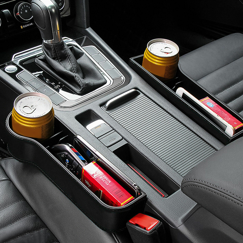 Car Seat Organizer Crevice Storage Box Car Organizer Gap Slit Filler Holder For Wallet title=