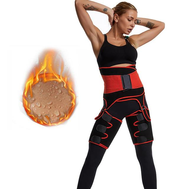1Pcs Men Women Tummy Waist Trainer Cincher Sweat Belt Trainer Hot Body Shaper Slim Shapewear Sweat Belt Waist Cincher Trainer 2