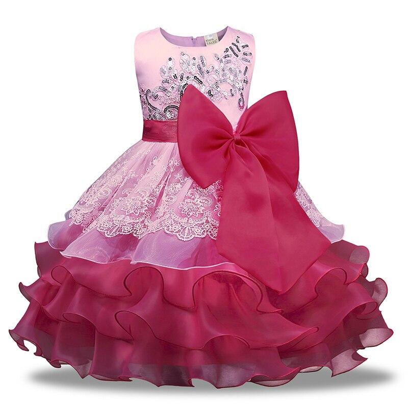 Sommer Kinder Kleider Für Mädchen Formal Kinder Mädchen Kleid Ärmellose Spitze Bowknot Blume Mädchen Kleider Oansatz Kinder Kleid