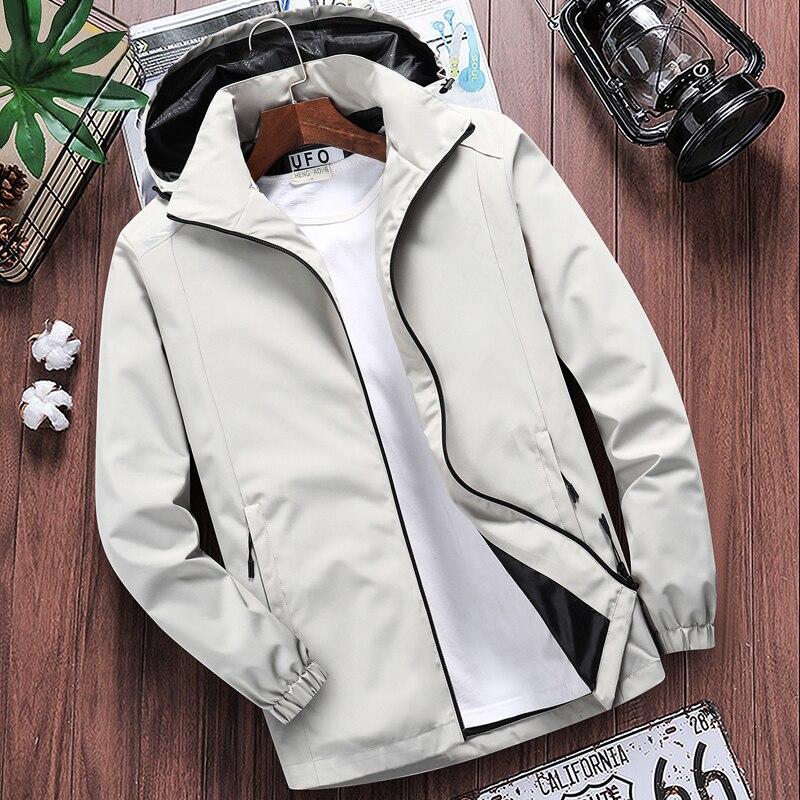Men's Casual Hooded Bomber Jacket Spring summer Hip Hop Windbreaker waterproof Sportswear Jackets and Coats men clothing 7XL 8XL