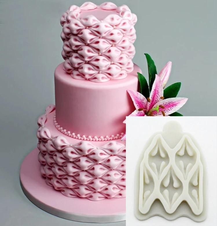 Cake Mould Chocolate Silicone Happy Birthday Fondant Baking Mold Decorating Pink