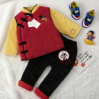 Tonytaobaby Winter Dress New Baby Chinese New Year Cotton Suit Toddler Boy Clothes