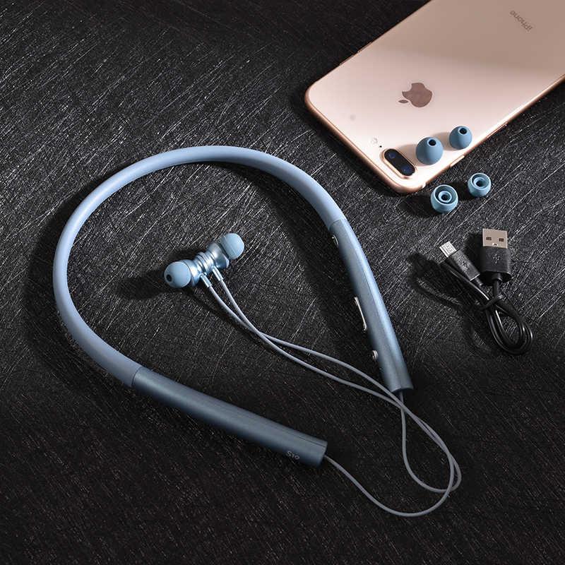 Salar S19 słuchawki Bluetooth słuchawki bezprzewodowe sportowe do biegania bas dźwięk słuchawka z mikrofon do iPhone'a Xiaomi słuchawki douszne