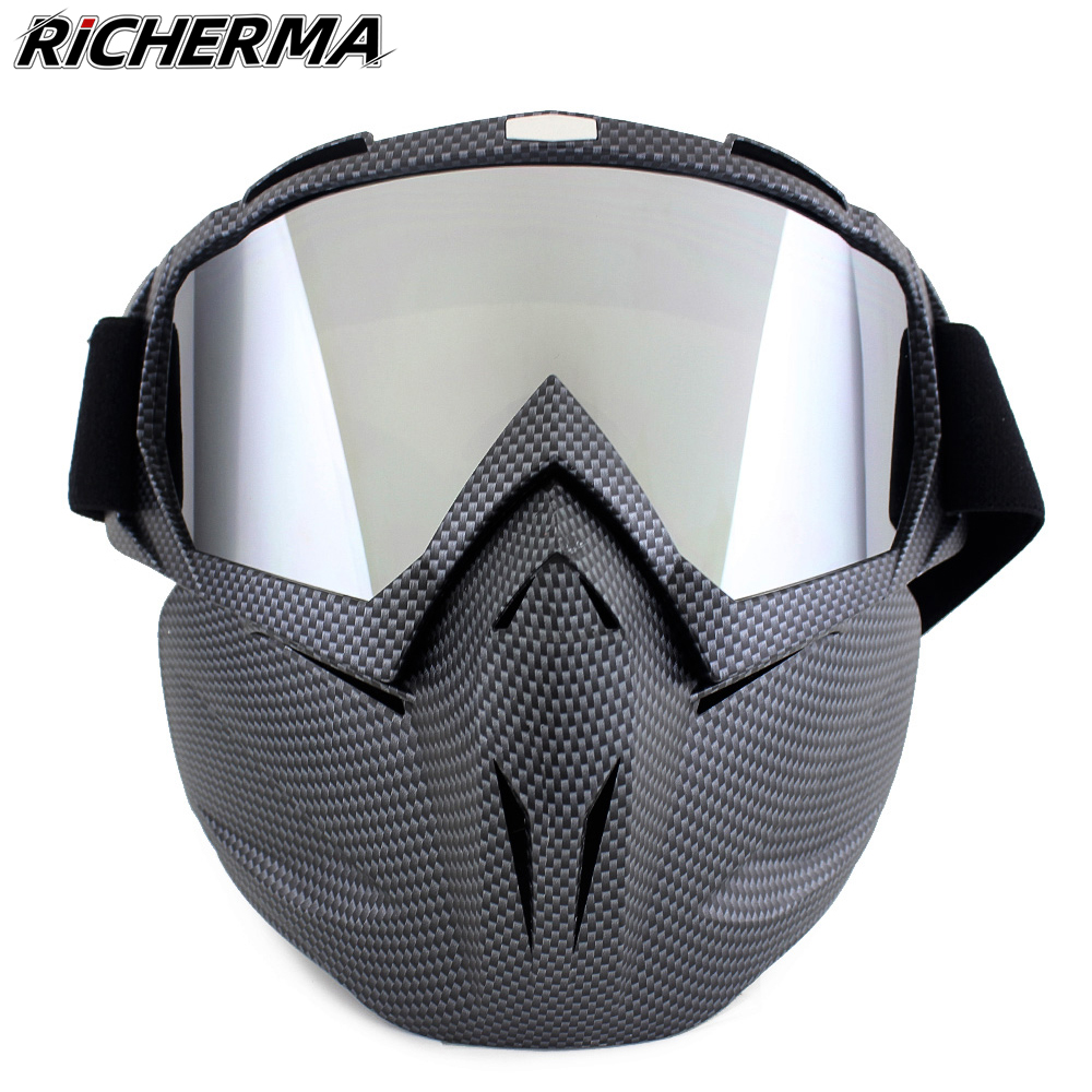 Windproof Motorcycle Mask Full Face Protective Tactical Mask Dustproof Durable Ski Mask Face Shield For Motocross Biker Military